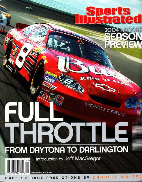Full Throttle 2004 Sports Illustrated NASCAR Preview softcover coffee table book