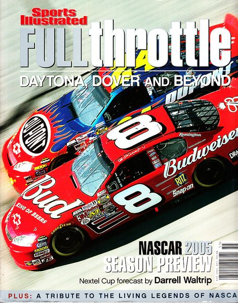 Full Throttle 2005 Sports Illustrated NASCAR Preview softcover coffee table book