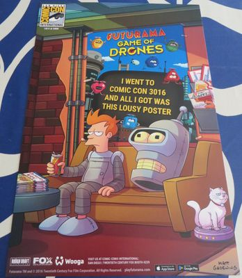 Futurama Game of Drones 2016 Comic-Con exclusive 11x17 poster #/2000