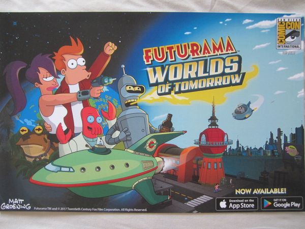 Futurama Worlds of Tomorrow 2017 Comic-Con exclusive poster #/1500