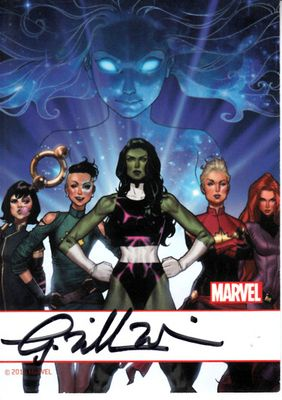 G. Willow Wilson autographed Ms. Marvel 2016 Comic-Con card