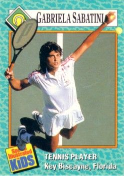 Gabriela Sabatini 1989 Sports Illustrated for Kids card
