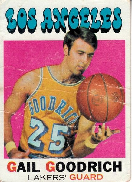 Gail Goodrich Los Angeles Lakers 1971-72 Topps card #121 (creased)