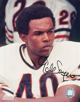 Gale Sayers autographed Chicago Bears 8x10 portrait photo