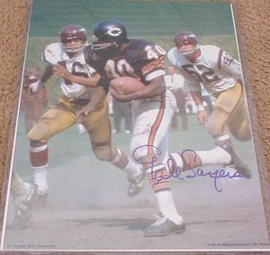 Gale Sayers autographed Chicago Bears 11x14 photo