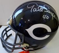 Gale Sayers autographed Chicago Bears authentic full size throwback game model helmet