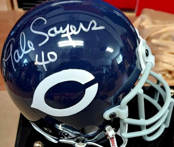 Gale Sayers autographed Chicago Bears authentic throwback mini helmet (Steiner)