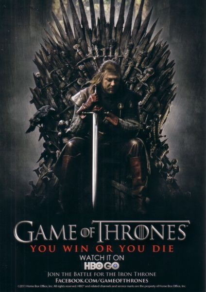 Game of Thrones 2011 Comic-Con exclusive 5x7 promo card (Sean Bean as Ned Stark)