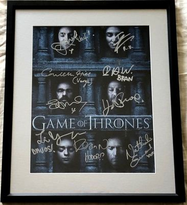 Game of Thrones cast autographed 2016 Comic-Con poster framed (Sophie Turner John Bradley Conleth Hill)