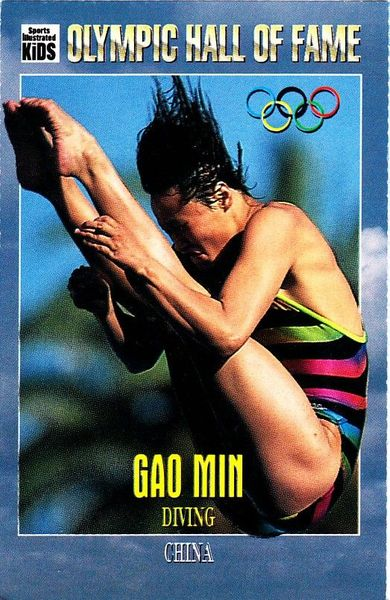 Gao Min Olympic Hall of Fame 1996 Sports Illustrated for Kids card