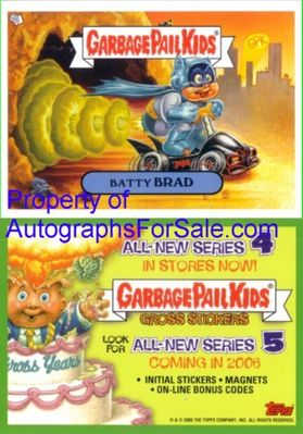 Garbage Pail Kids Batty Brad Series 5 2005 Topps promo card