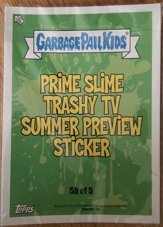 Garbage Pail Kids Trashy TV 2016 Comic-Con exclusive 5x7 jumbo 10 card set