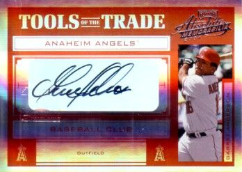 Garret Anderson certified autograph Angels 2004 Playoff card #45/50
