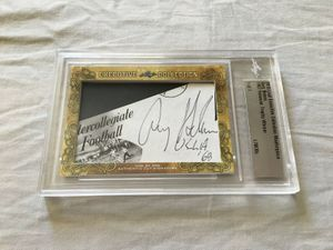 Gary Beban 2018 Leaf Masterpiece Cut Signature certified autograph card 1/1 JSA UCLA