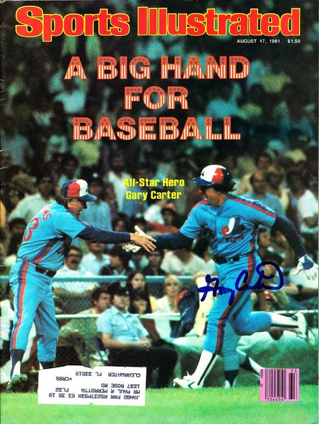 Gary Carter autographed Montreal Expos 1981 Sports Illustrated