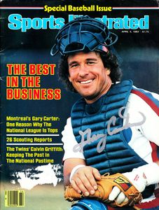 Gary Carter autographed Montreal Expos 1983 Sports Illustrated