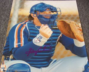 Gary Carter autographed New York Mets 8x10 photo