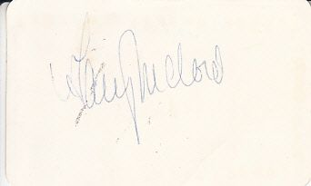 Gary McCord autograph or cut signature