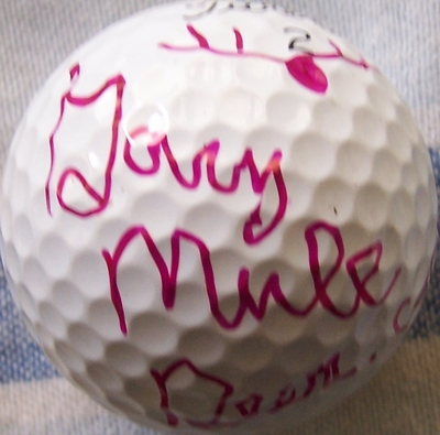 Gary Mule Deer autographed golf ball