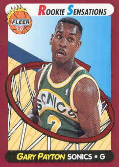 Gary Payton 1991-92 Fleer Rookie Sensations basketball insert card