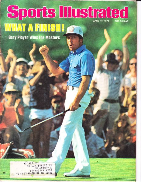 Gary Player 1978 Masters Sports Illustrated magazine