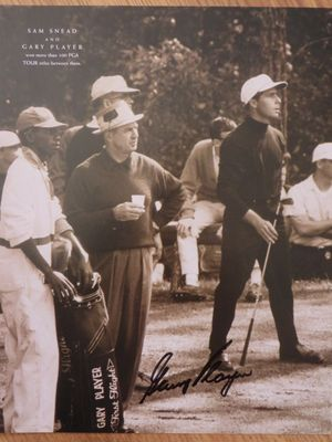 Gary Player autographed 10x13 golf book photo