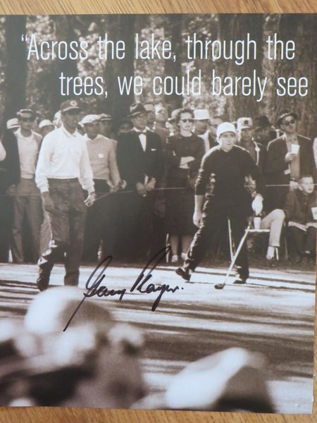 Gary Player autographed 10x12 golf book photo