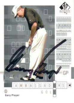 Gary Player autographed 2002 SP Authentic golf card