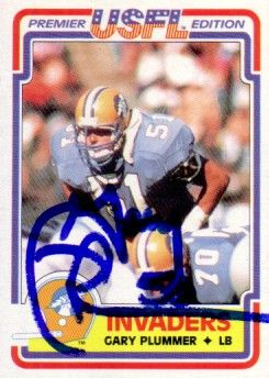 Gary Plummer autographed 1984 Topps USFL Rookie Card