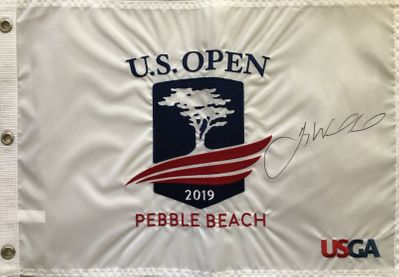 Gary Woodland autographed 2019 U.S. Open embroidered golf pin flag