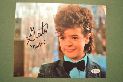 Gaten Matarazzo autographed Stranger Things 8x10 photo inscribed Dustin (BAS)