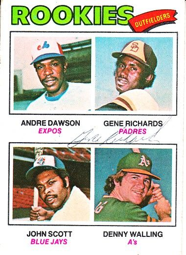 Gene Richards autographed Andre Dawson 1977 Topps Rookie Card