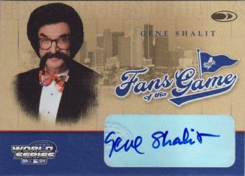 Gene Shalit certified autograph Donruss Fans of the Game card