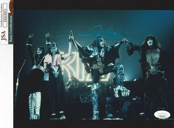 Gene Simmons autographed KISS 8x10 concert photo (JSA)