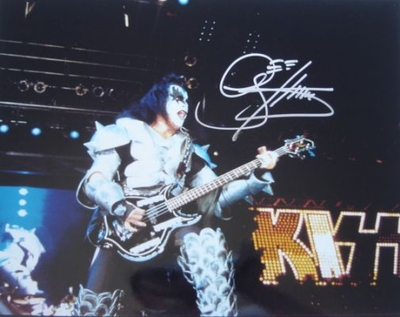 Gene Simmons autographed KISS 11x14 concert photo (Real Deal Memorabilia)
