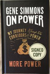 Gene Simmons autographed On Power hardcover signed first edition book