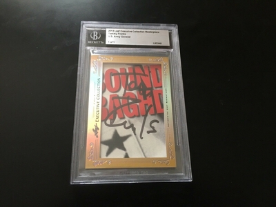 General Tommy Franks 2013 Leaf Masterpiece Cut Signature certified autograph card 1/1