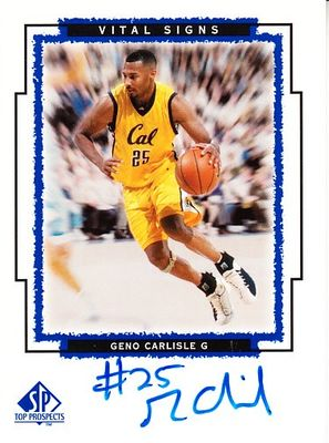 Geno Carlisle certified autograph Cal Bears 1999 SP Top Prospects card
