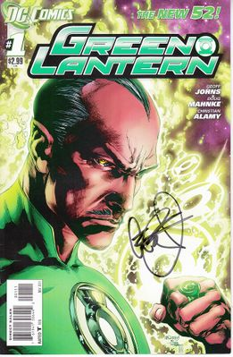 Geoff Johns autographed Green Lantern 2011 DC New 52 comic book issue #1