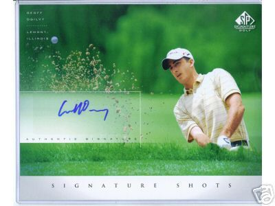 Geoff Ogilvy certified autograph 2004 SP Signature 8x10 photo card