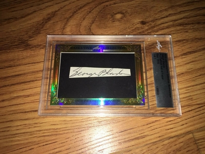 George Blanda 2015 Leaf Masterpiece Cut Signature certified autograph card 1/1 JSA