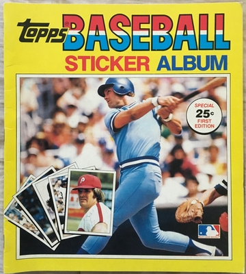 George Brett Kansas City Royals 1981 Topps sticker album