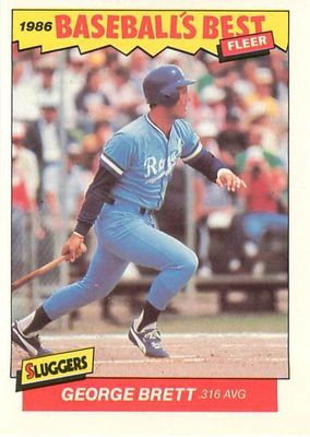 George Brett Kansas City Royals 1986 Fleer Sluggers vs Pitchers card