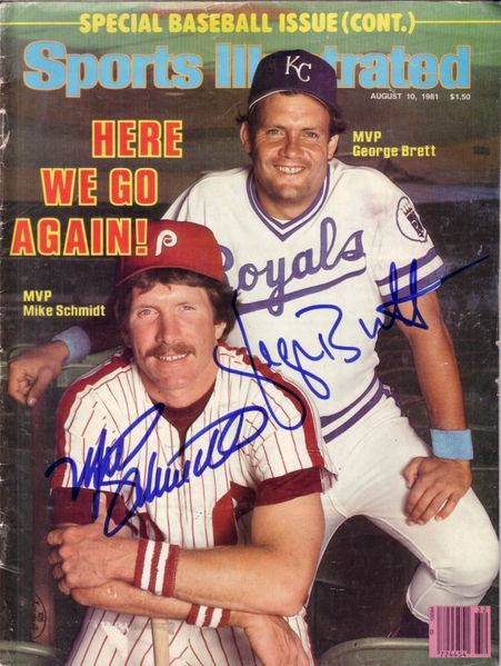 George Brett & Mike Schmidt autographed 1981 Sports Illustrated