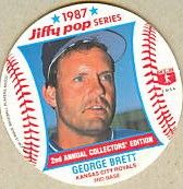 George Brett Royals 1987 Jiffy Pop disc