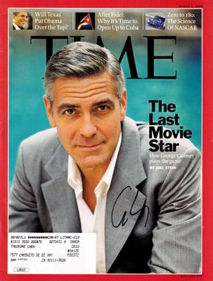George Clooney autographed 2008 Time magazine (JSA)