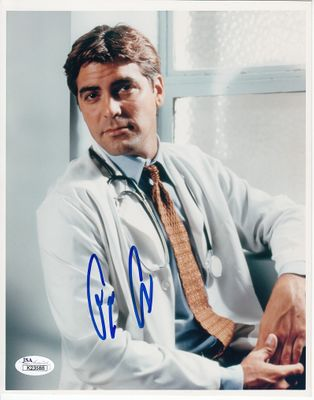 George Clooney autographed ER 8x10 portrait photo (JSA)