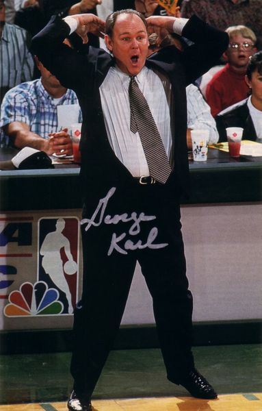 George Karl autographed full page magazine photo