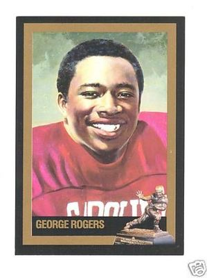 George Rogers South Carolina Gamecocks 1980 Heisman Trophy winner card