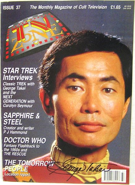 George Takei autographed Star Trek 1992 TV Zone magazine